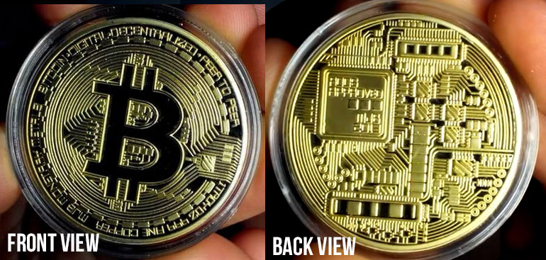 Free Gold Plated Collectible Bitcoin